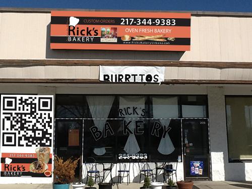 Ricks _bakery_facade_Urbana_IL_new sign by Ganna Sheyko annaartdesign.com